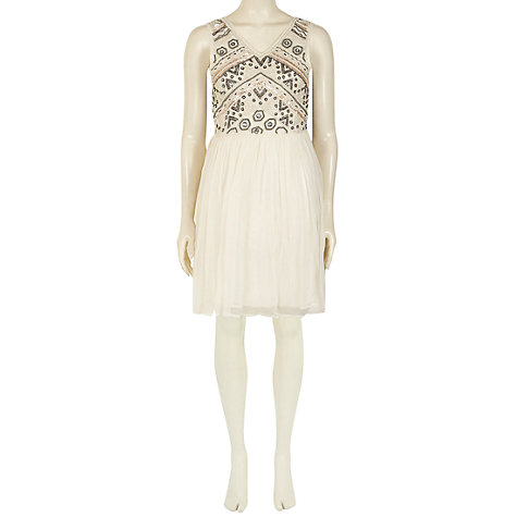 Buy Rise Maggie Dress, Cream Online at johnlewis.com