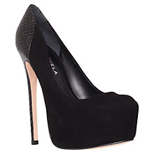 Buy Carvela Attention Platform Court Shoes, Black Online at johnlewis.com