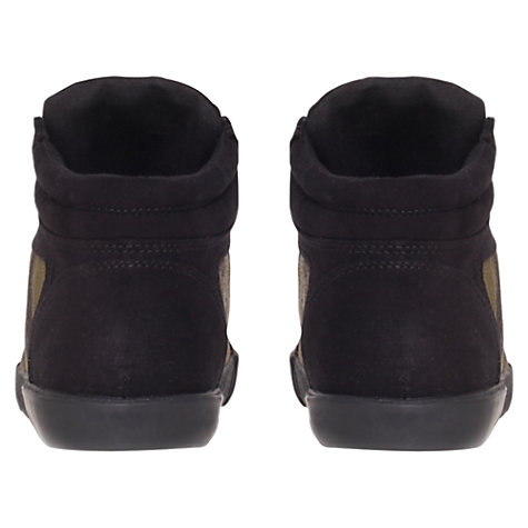 Buy Carvela Laugh Studded Toe Cap Trainers, Black/Camo Online at johnlewis.com