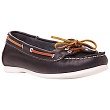 Buy Bertie Lester Boat Shoes, Blue Online at johnlewis.com