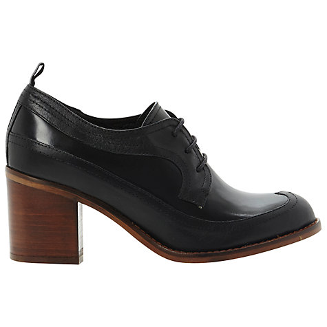 Buy Bertie Astor Wingtip Heeled Smart Shoes, Black Online at johnlewis.com