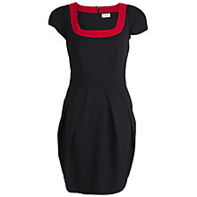 Buy Whistle & Wolf Contrasting Neckline Dress, Black/Red Online at johnlewis.com