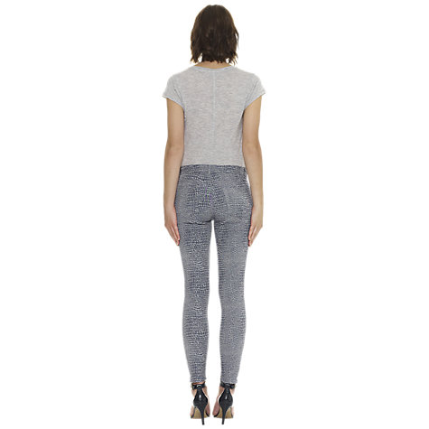 Buy Whistles Denim Jacquard Skinny Jeans, Blue Online at johnlewis.com