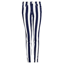 Buy Mango Stripe Trousers, Natural White Online at johnlewis.com