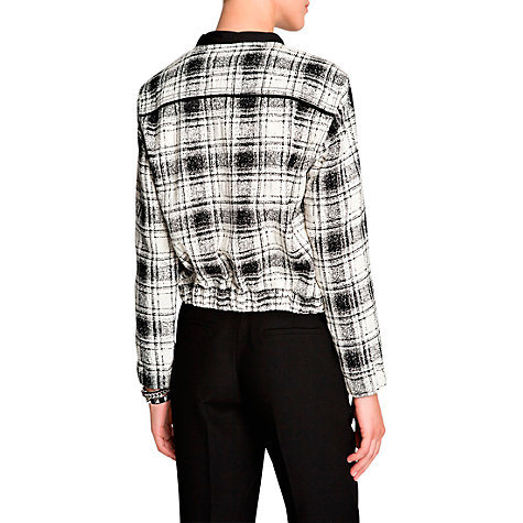 Buy Mango White Check Bomber Online at johnlewis.com
