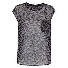Buy Mango Skulls Chiffon Blouse, Black Online at johnlewis.com