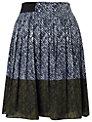 Whistles Maria Pleated Skirt, Multicolour