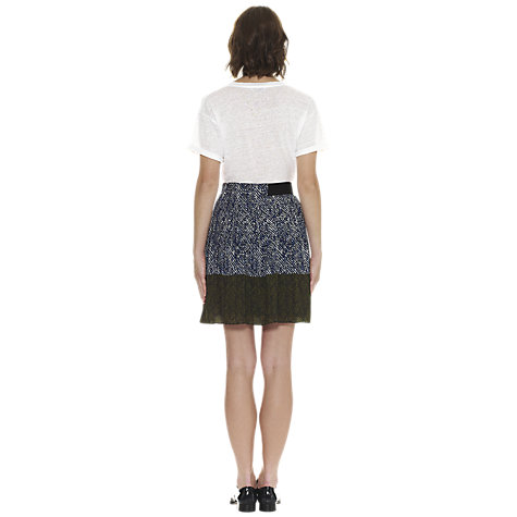 Buy Whistles Maria Pleated Skirt, Multicolour Online at johnlewis.com