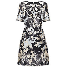 Buy Whistles Terazzo Print Dress, Black/Multi Online at johnlewis.com