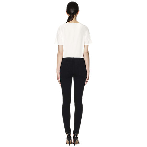 Buy Whistles Alexis Biker Skinny Jeans, Black Online at johnlewis.com