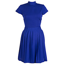 Buy Whistle & Wolf Pleated Skirt Dress, Blue Online at johnlewis.com