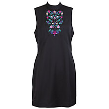 Buy Whistle & Wolf Embroidered Panel Dress, Black Online at johnlewis.com