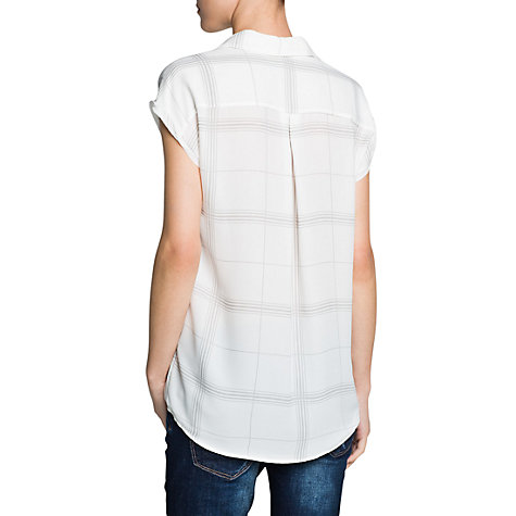 Buy Mango Checked Shirt, White Online at johnlewis.com