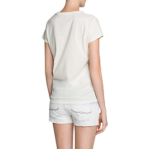 Buy Mango Baroque T-Shirt, Natural White Online at johnlewis.com