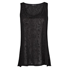 Buy Mango Snakeskin Top Online at johnlewis.com