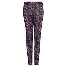 Buy Mango Liberty Print Leggings, Black Online at johnlewis.com