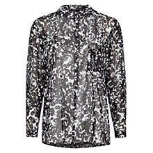 Buy Mango Bicolour Chiffon Blouse, Black Online at johnlewis.com