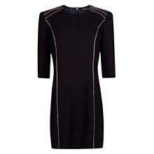 Buy Mango Metal Details Dress, Black Online at johnlewis.com