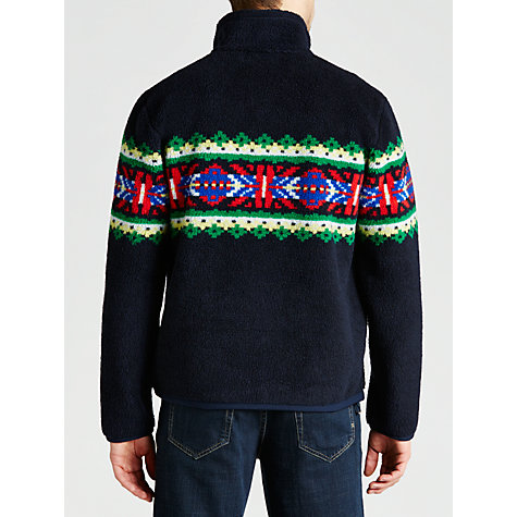 Buy Polo Ralph Lauren Nordic Zip Up Fleece, Navy Online at johnlewis.com