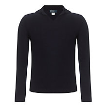 Buy Polo Ralph Lauren Long Sleeve Linen Polo Shirt, Navy Online at johnlewis.com