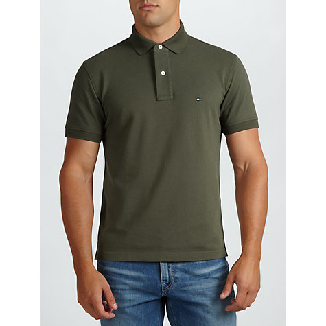 Buy Tommy Hilfiger New Tommy Polo Shirt, Palm Green Online at johnlewis.com