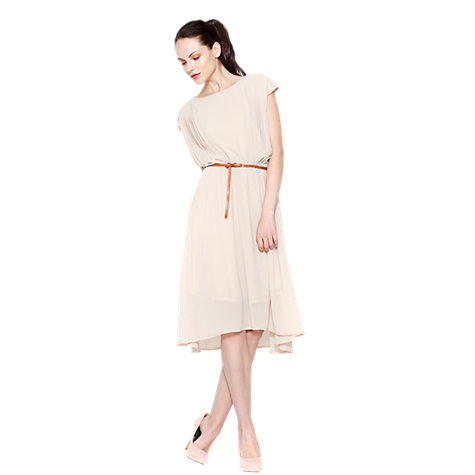 Buy Paisie Pleated Midi Dress, Beige Online at johnlewis.com