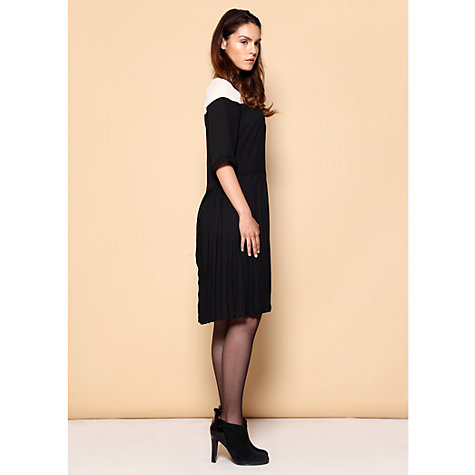 Buy Paisie Two Tone Pleated Shift Dress, Multi Online at johnlewis.com