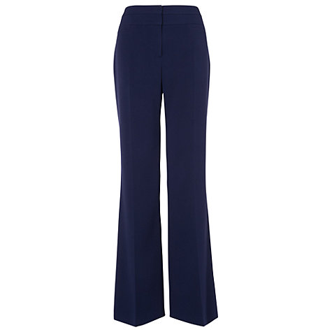 Buy Phase Eight Ginette Temple Trousers, Navy Online at johnlewis.com