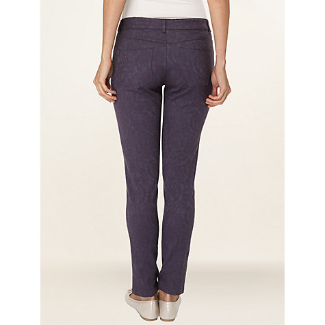 Buy Phase Eight Nancy Jacquard Jeans, Mole Online at johnlewis.com