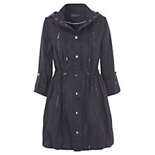 Buy Mint Velvet Zip Parka Coat, Blue Online at johnlewis.com