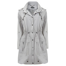 Buy Mint Velvet Zip Parka Coat, Ivory Online at johnlewis.com