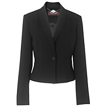 Buy Phase Eight Jamie Crepe Jacket, Black Online at johnlewis.com