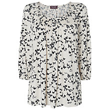 Buy Phase Eight Tiny Butterfly Print Top, Ivory/Black Online at johnlewis.com