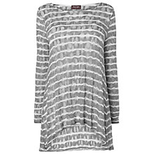Buy Phase Eight Pointelle Stripe Joplin Top, Silver Online at johnlewis.com