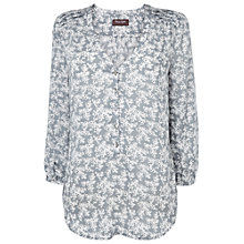 Buy Phase Eight Tara Print Blouse, Silver Online at johnlewis.com