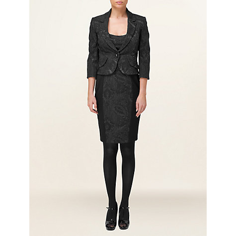 Buy Phase Eight Eileen Jacquard Jacket, Black Online at johnlewis.com