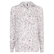 Buy Mango Star Print Shirt, Natural White Online at johnlewis.com