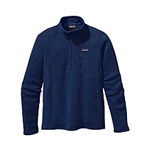 Buy Patagonia Better Quarter-Zip Fleece Pullover, Channel Blue Online at johnlewis.com