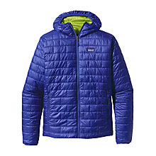 Buy Patagonia Nano Puff Hooded Jacket, Viking Blue Online at johnlewis.com