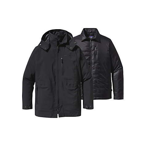 Buy Patagonia Roys Bay 3-in-1 Parka, Black Online at johnlewis.com