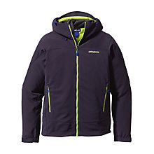 Buy Patagonia Soft Shell Adze Hooded Jacket, Navy Online at johnlewis.com