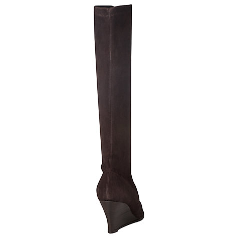Buy L.K. Bennett Regan Suede Wedge Calf Boots, Brown Online at johnlewis.com