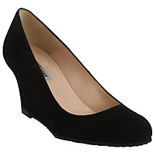 Buy L.K. Bennett Baylee Wedged Court Shoes, Black Online at johnlewis.com