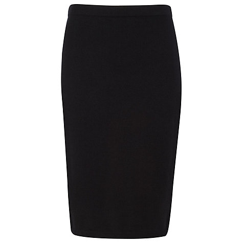 Buy Planet Knitted Pencil Skirt, Black Online at johnlewis.com