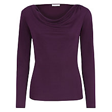 Buy Planet Cowl Neck Top, Plum Online at johnlewis.com