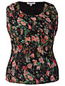Chesca Garden Camisole, Black/Multi