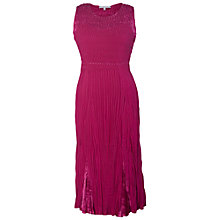 Buy Chesca Crush Pleated Dress, Cerise Online at johnlewis.com
