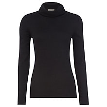 Buy Planet Roll Neck Jumper, Black Online at johnlewis.com