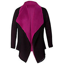 Buy Chesca Reverse Cardigan, Black/Orchid Online at johnlewis.com