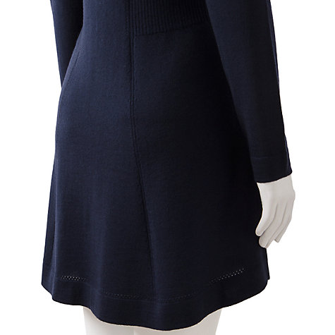 Buy East Merino Button Cardigan, Navy Online at johnlewis.com